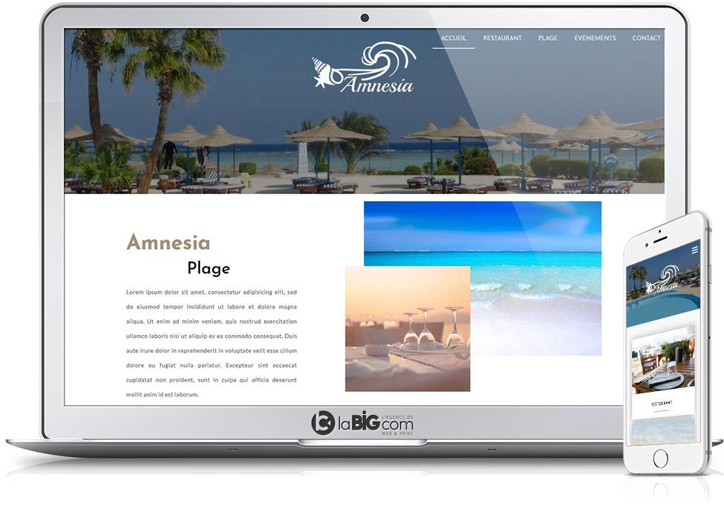 Amensias Site Responsive WordPress Plage Privee