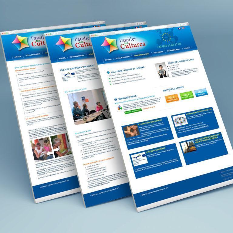 Atelier Des Cultures Creation Site Web