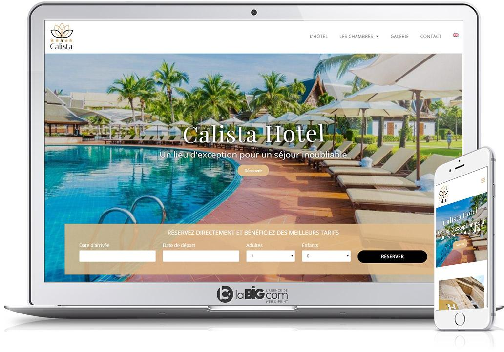 Calista Site Responsive WordPress Hotel Reservation