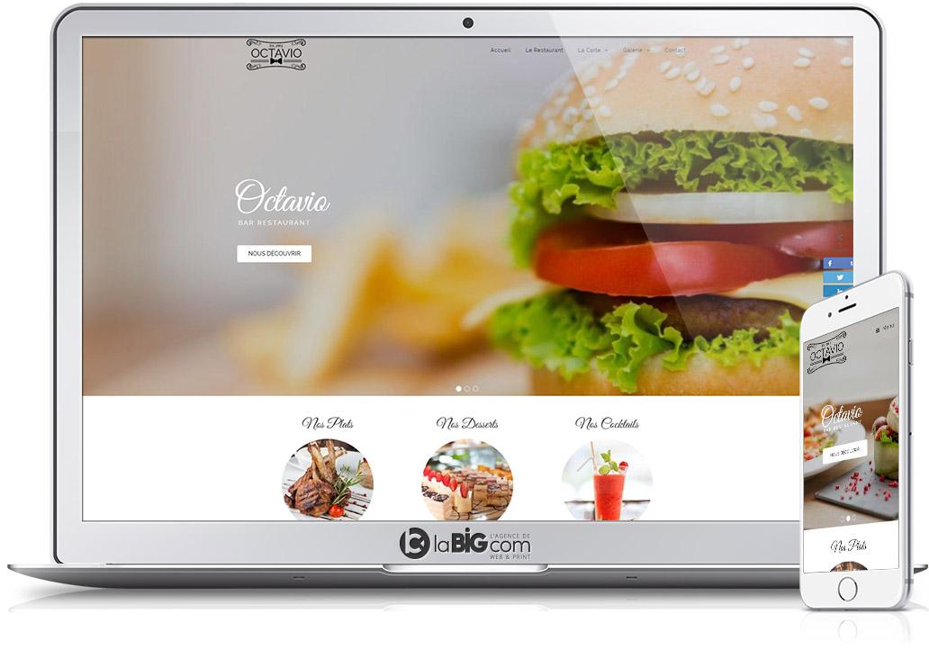 Octavio Site Responsive WordPress Restaurant Bar
