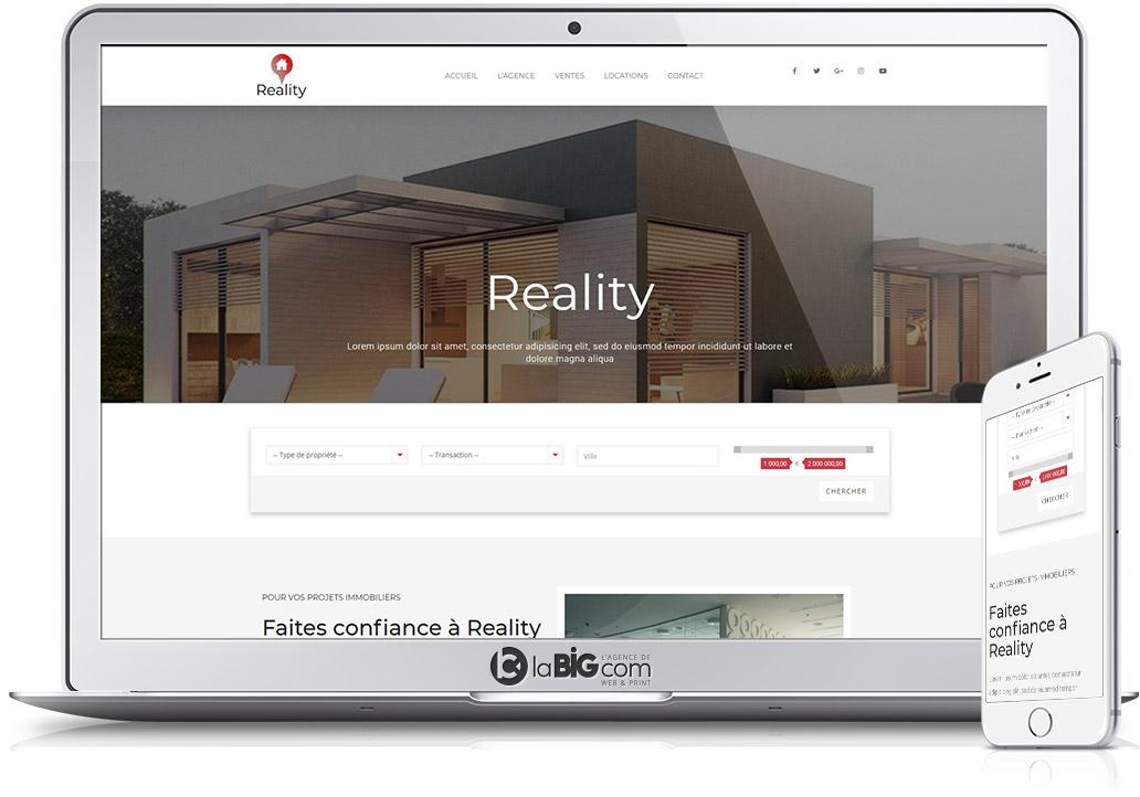 Realty Site Responsive WordPress Agence Immobiliere Transaction