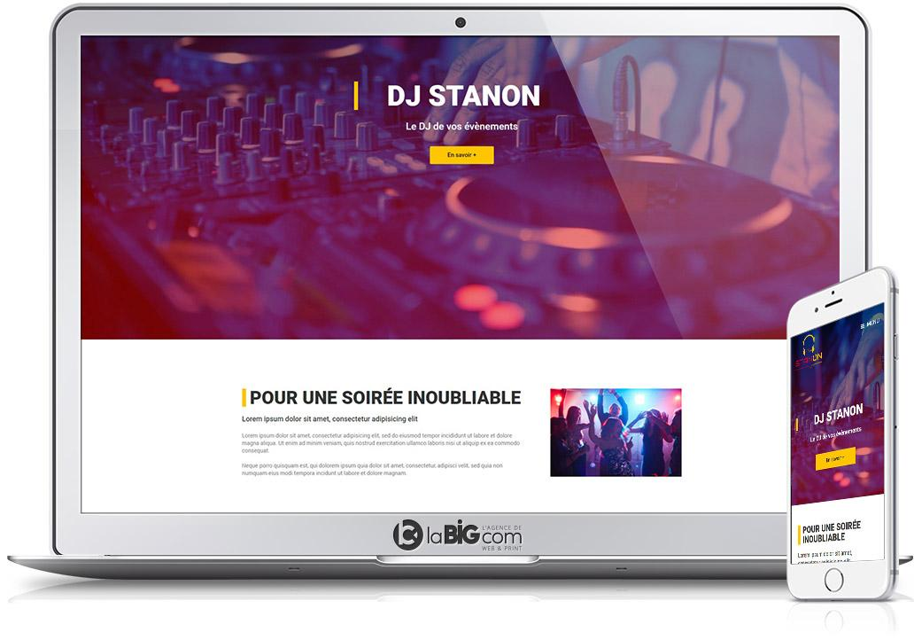 Stanon Site Responsive WordPress Dj Animation