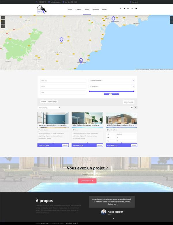 Creation Site Internet Agence Immobiliere Delta